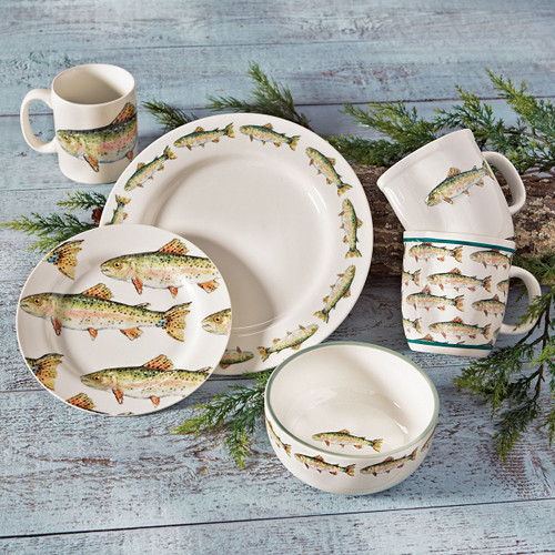 Rainbow Trout Dinnerware Collection