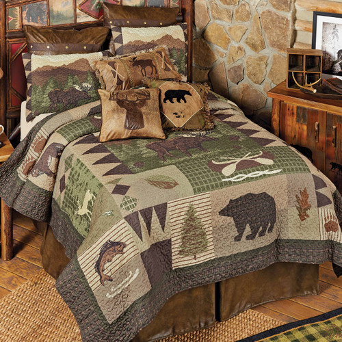 Rocky Mountain Wildlife Quilt Bedding Collection