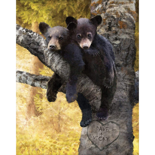 Bear Cub Love Personalized Wall Art
