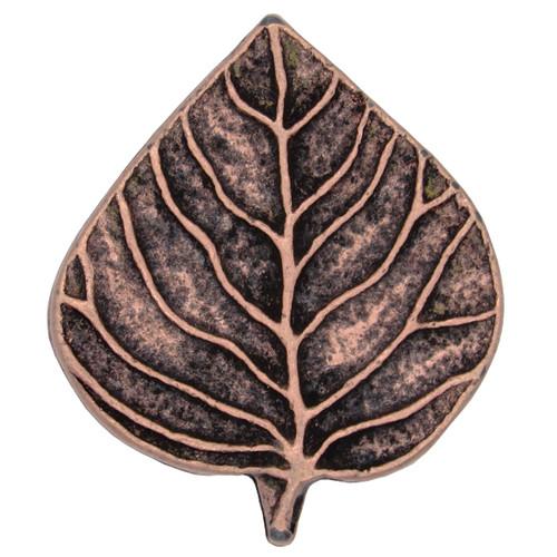 Single Aspen Leaf Knob