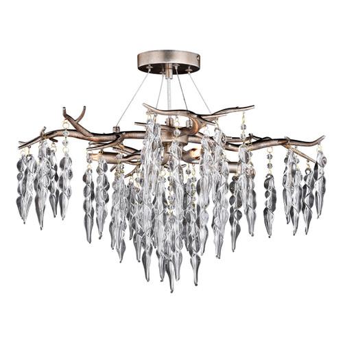 Silver Forest Semi Flush Ceiling Light