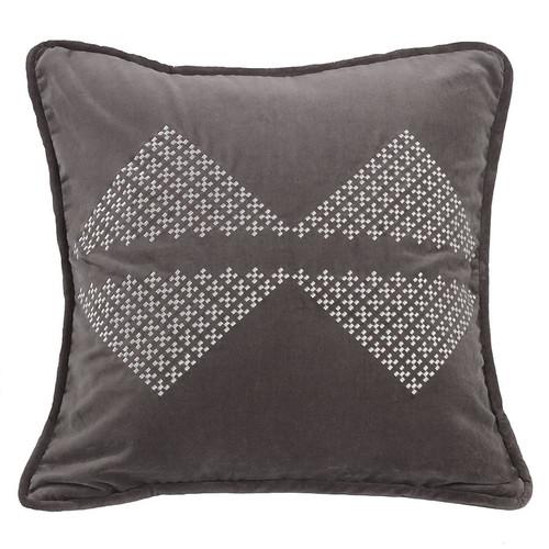 Silver Mountain Embroidered Diamond Pillow