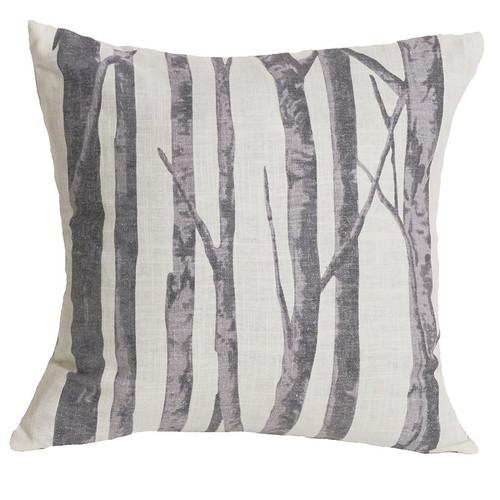 Silver Mountain Printed Branches Pillow