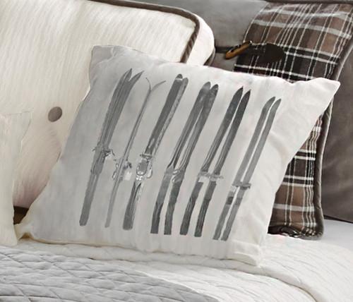 Silver Mountain Printed Ski Pillow