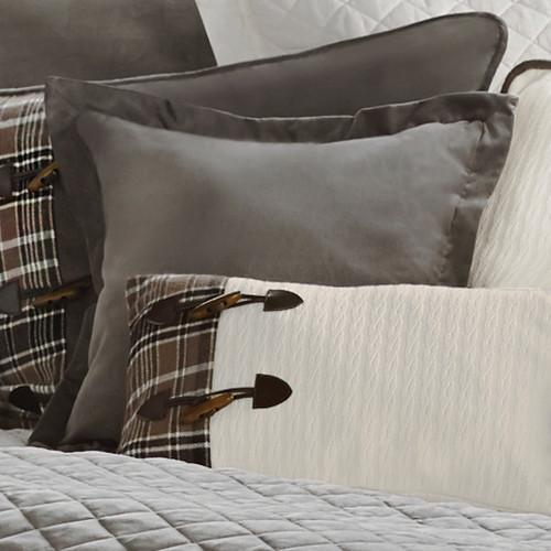 Silver Mountain Square Velvet Pillow