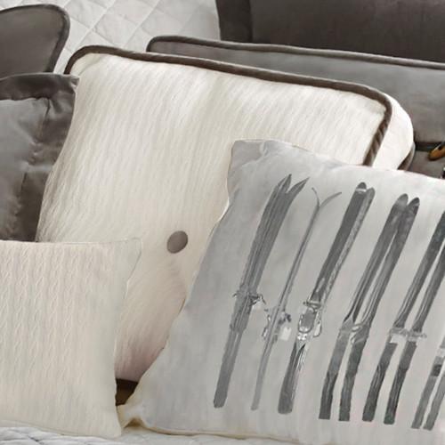 Silver Mountain Tufted Box Pillow
