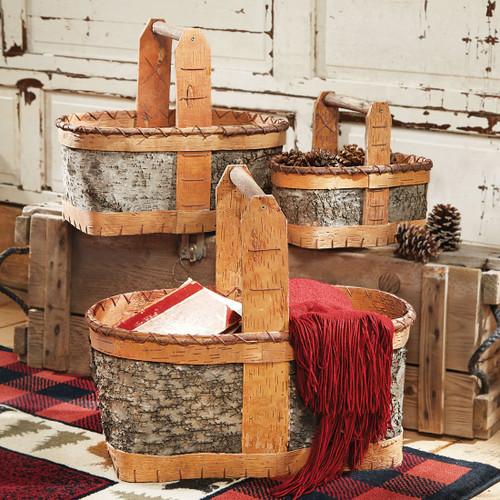 Authentic Birch Baskets