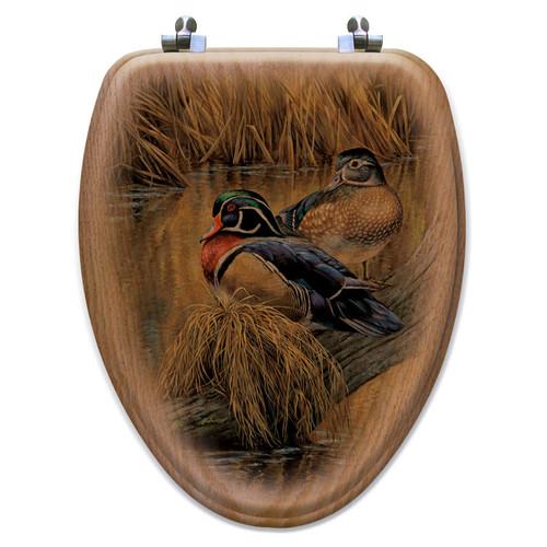 Back Waters Wood Duck Toilet Seat