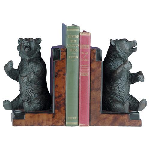 Sitting Bear Bookends - Bronze