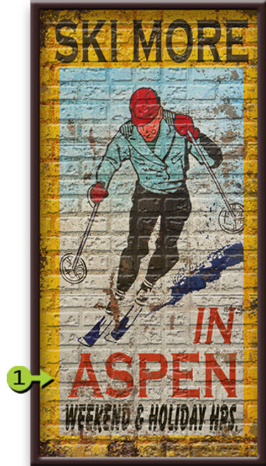 Ski More Personalized Framed Art