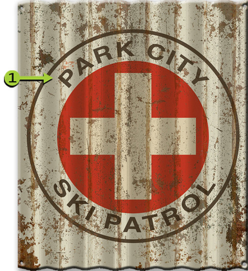 Ski Patrol Personalized Corrugated Metal Sign