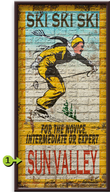 Ski Ski Ski Personalized Framed Art