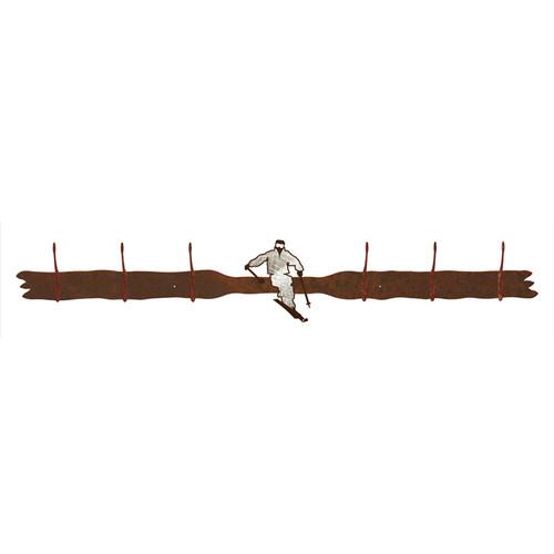 Skier 6 Hook Coat Rack