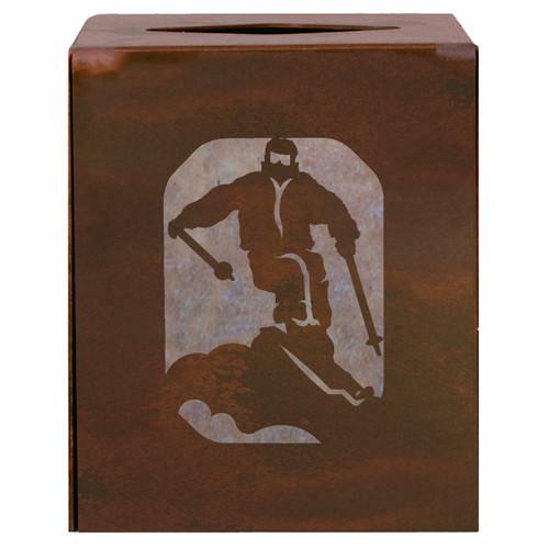 Skier Square Tissue Cover