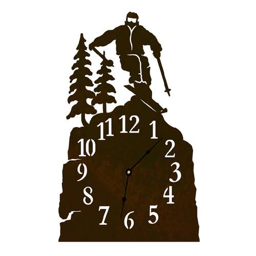 Skier Table Clock