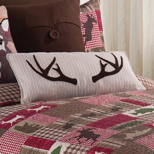 Sleepy Forest Antler Pillow