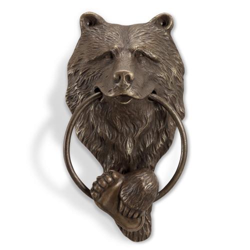 Smiling Bear Brass Doorknocker
