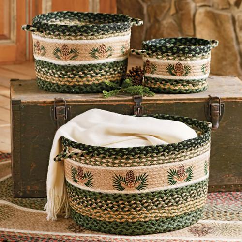 Pinecone Braided Utility Baskets