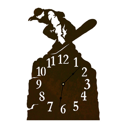 Snowboarder Table Clock