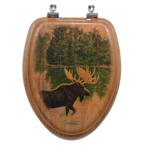 Wilderness Lake Moose Toilet Seat