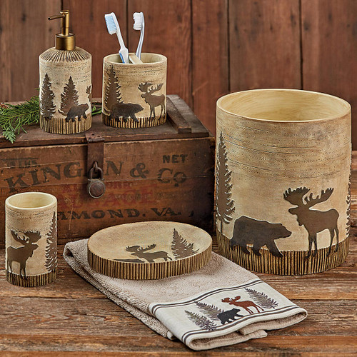 Woodland Moose & Bear Bath Accessories