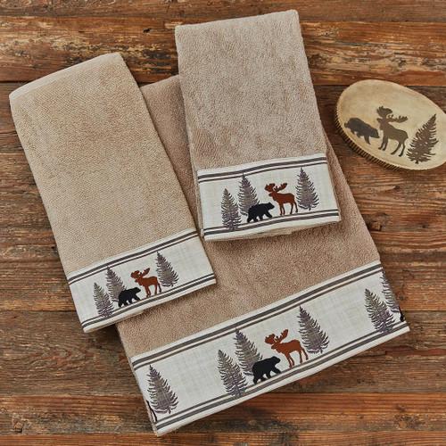 Woodland Moose & Bear Towel Collection