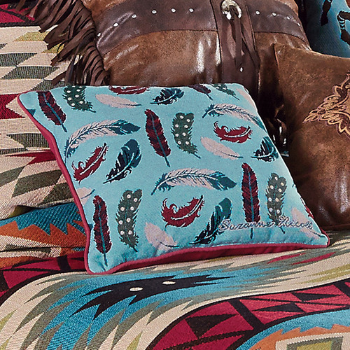 Southwest Expressions Feather Accent Pillow