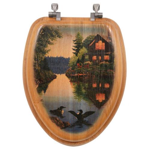 Lake Cabin Toilet Seat