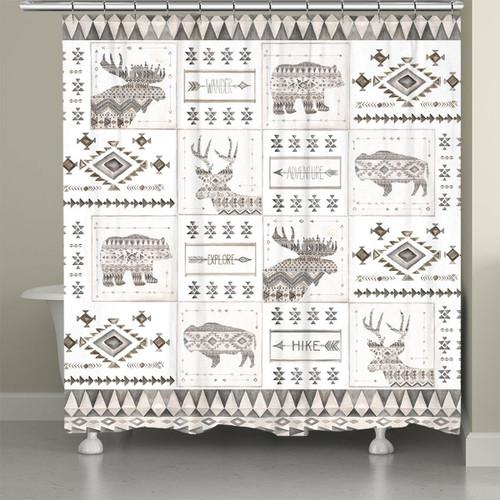 Southwest Lodge Shower Curtain