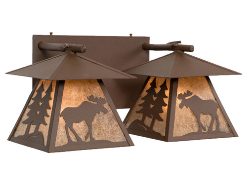 Cascade Double Vanity with Moose