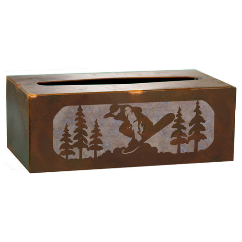 Snowboarder Tissue Covers and Waste Basket