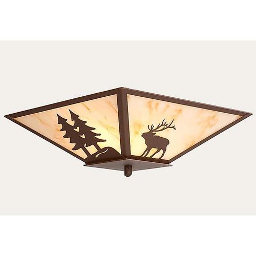 Nature Semi-Flush Light - Elk