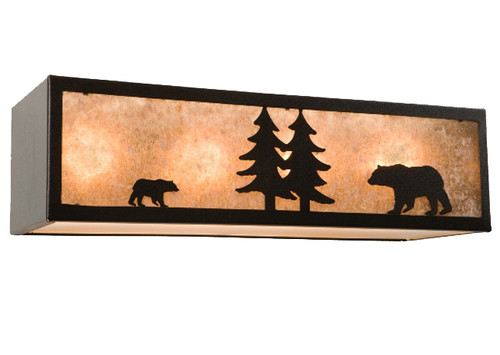 Nature Vanity with Bear - 4 Light