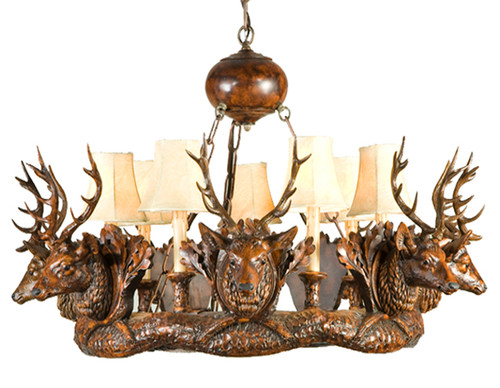 Stag Head Chandelier