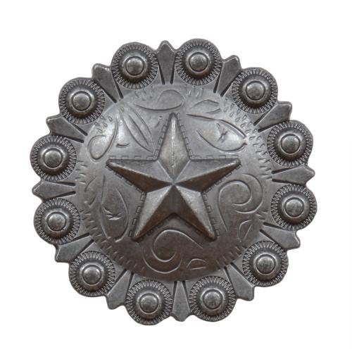 Star Berry Concho Cabinet Knob