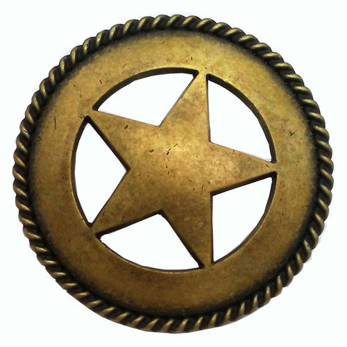Star with Rope Cabinet Knob - Large
