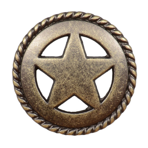 Star with Rope Cabinet Knob - Small