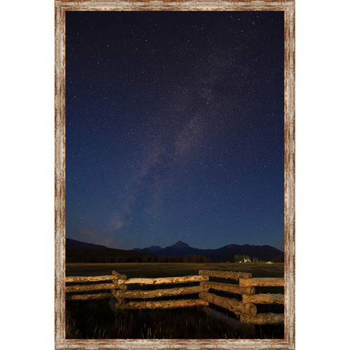 Stars in the Rockies Framed Canvas