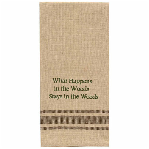 Stays in the Woods Embroidered Dishtowels - Set of 6