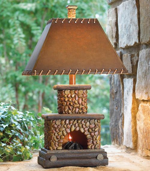 Stone Fireplace Lamp