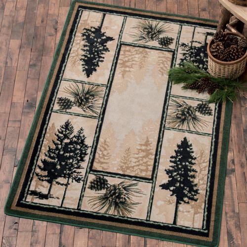 Stoic Pine Trees Rug - 4 x 5