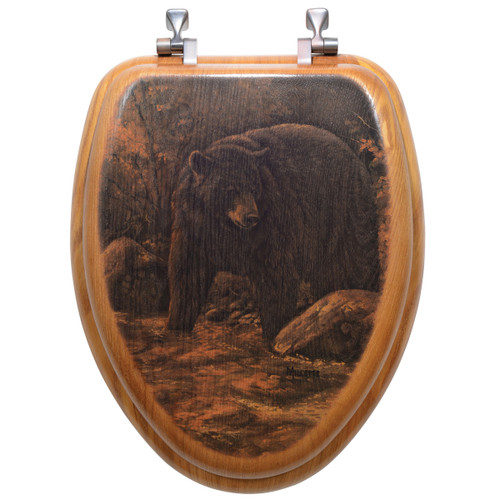 Streamside Bear Toilet Seat - Round