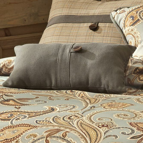 Sundance Spring Small Gray Button Pillow