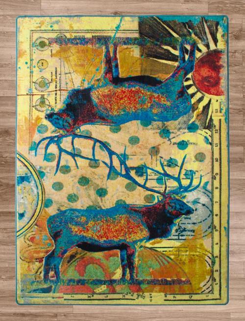 Sunrise Elk Rug - 8 x 11
