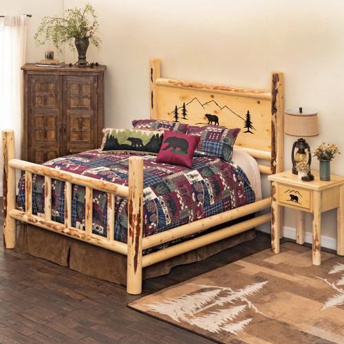 Bear Mountain Log Bedroom Furniture