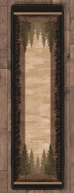 Tall Pine Woods Rug - 2 x 8