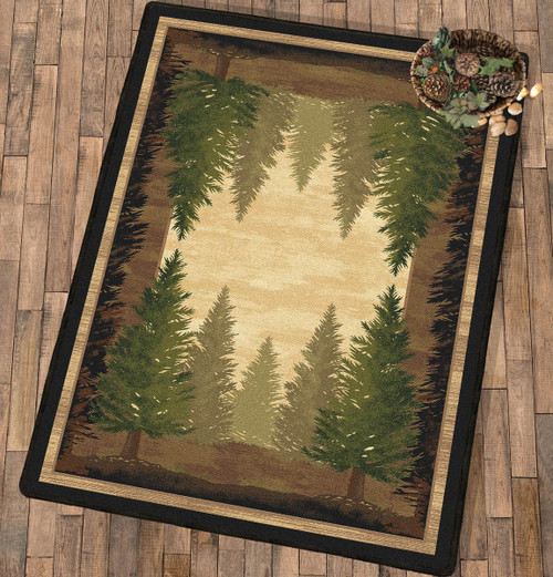 Tall Pine Woods Rug - 5 x 8