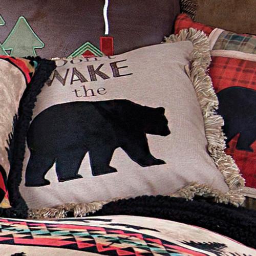 Taos Bear Don't Wake Pillow