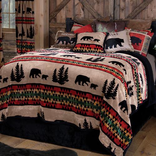 Taos Bear Plush Bed Set - Queen