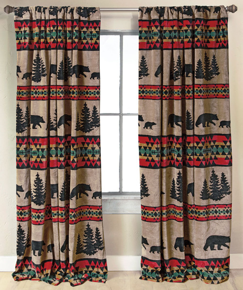 Taos Bear Plush Drapes